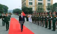 Presiden Vietnam, Tran Dai Quang melakukan temu kerja dengan Angkatan Bersenjata KODAM Zona I