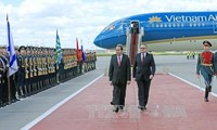 В РФ состоялась официальная церемония встречи президента СРВ Чан Дай Куанга