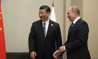 Президент РФ Владимир Путин принял в Кремле председателя КНР