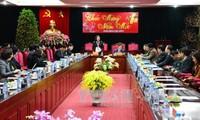 越南国家副主席邓氏玉盛视察山萝省