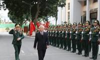 阮富仲探望边防部队司令部并拜年