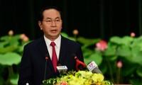 越南国家主席陈大光2017年丁酉春节新春贺词