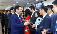 越南政府副总理王庭惠向外贸银行拜年