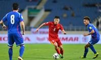 越南国家足球队与中国台湾队进行友谊赛