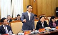 越南政府副总理武德担视察北江省