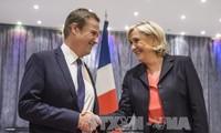 """法国总统选举:勒庞与""""法国崛起党""""主席结盟"""