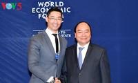 阮春福会见WEF、AIIB和Cisco集团领导人