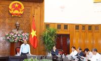阮春福与因洪灾遭受严重损失四省领导座谈