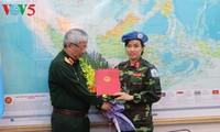 越南首位女军官加入联合国维和力量