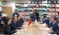越南政府常务副总理张和平访问韩国