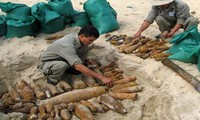 Efforts to deal with the aftermaths of bombs and mines in Vietnam