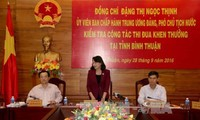 Vice President works with Binh Thuan on emulation movement