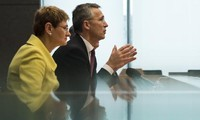 NATO Foreign Ministers meet to prepare for a summit in May