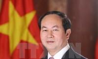 President Tran Dai Quang begins Belarus visit