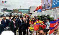 Party leader arrives in Phnom Penh for a State visit