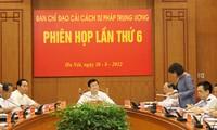 Chủ tịch nước chủ trì phiên họp thứ 6 Ban Chỉ đạo Cải cách Tư pháp TW