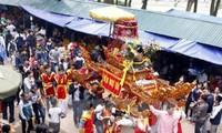 Khởi đúc tượng Đức Thánh Tản tại đền Thượng, Ba Vì, Hà Nội