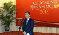 Gặp mặt đầu năm các phóng viên nước ngoài thường trú ở Việt Nam
