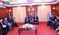 Viện trưởng Viện Kiểm sát nhân dân Tối cao Nguyễn Hòa Bình tiếp Bộ trưởng Bộ tư pháp Lào