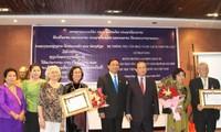 Lào tặng Huân chương Lao động cho nguyên giảng viên Học viện Âm nhạc Việt Nam