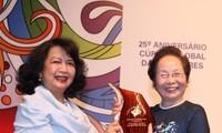 Phó Chủ tịch nước Nguyễn Thị Doan tham dự Hội nghị Thượng đỉnh Phụ nữ Toàn cầu lần thứ 25