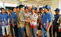 18 ngư dân Việt bị bắt ở Indonesia đã về nước