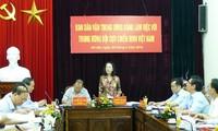 Trưởng ban Dân vận Trung ương Trương Thị Mai làm việc với Trung ương Hội Cựu chiến binh Việt Nam