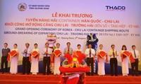 Khai trương tuyến hàng hải Hàn Quốc- Chu Lai và mở rộng cảng Chu Lai- Trường Hải