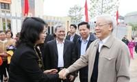Tổng Bí thư Nguyễn Phú Trọng dự Ngày hội đại đoàn kết toàn dân tộc tại tỉnh Bắc Ninh