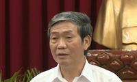 Thường trực Ban Bí thư Đinh Thế Huynh tiếp Chánh Văn phòng TW Đảng Nhân dân Campuchia Mom Sarin