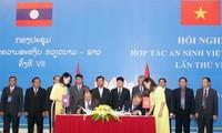Hội nghị hợp tác an ninh Việt Nam - Lào lần thứ VIII