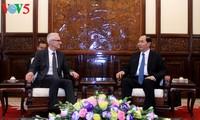 Chủ tịch nước Trần Đại Quang tiếp Tổng thư ký Tổ chức Cảnh sát hình sự Quốc tế Interpol