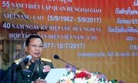Bộ Quốc phòng Lào mít tinh trọng thể kỷ niệm các ngày lễ lớn của 2 nước
