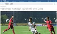Nữ tuyển thủ bóng đá Việt Nam được vinh danh trên trang chủ của Liên đoàn bóng đá thế giới