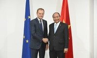 Thủ tướng Nguyễn Xuân Phúc gặp Tổng Thư ký LHQ và Chủ tịch Hội đồng châu Âu EU