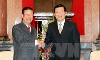ประธานประเทศเวียดนามให้การต้อนรับนายสมสะหวาด เล่งสะหวัด รองนายกรัฐมนตรีลาว