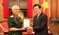 ประธานประเทศเจืองเติ๊นซางพบปะกับคณะประสานแนวร่วมเขตที่ราบสูงเตยเงวียน