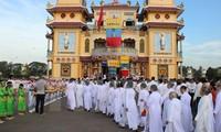 ประธานประเทศเจืองเติ๊นซางให้การต้อนรับตัวแทนสมาคมศาสนากาวด่าย