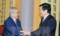 ประธานประเทศให้การต้อนรับคณะผู้แทนสมาคมมิตรภาพญี่ปุ่น – เวียดนามเขตคันไซ