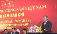 การแถลงข่าวต่อสื่อมวลชนเกี่ยวกับการประชุมสมัชชาใหญ่พรรคคอมมิวนิสต์เวียดนามสมัยที่ 12