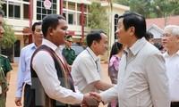 ประธานประเทศเจืองเติ๊นซางไปเยี่ยมประชาชนในเขตชายแดนหลกนิงห์
