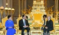 ความหมายที่ยิ่งใหญ่ในการเยือนประเทศลาวและกัมพูชาของประธานประเทศเวียดนามเจิ่นด่ายกวาง