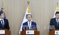 สาธารณรัฐเกาหลี สหรัฐและญี่ปุ่นเห็นพ้องขยายความร่วมมือเพื่อปลอดนิเคลียร์