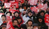 เกิดการชุมนุมประท้วงที่ประเทศสาธารณรัฐเกาหลีต่อไป