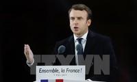 ว่าที่ประธานาธิบดีฝรั่งเศสให้คำมั่นปกป้องข้อตกลงปารีสเกี่ยวกับการเปลี่ยนแปลงของสภาพภูมิอากาศ