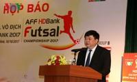 การแถลงข่าวต่อสื่อมวลชนเกี่ยวกับการแข่งขันฟุตซอลชิงแชมป์สโมสรเอเชียตะวันออกเฉียงใต้