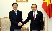 รองนายกรัฐมนตรีเจืองหว่าบิ่งห์ให้การต้อนรับรัฐมนตรีช่วยว่าการกระทรวงความมั่นคงแห่งชาติจีน