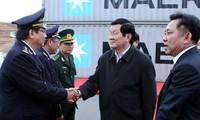 ประธานประเทศเวียดนาม ท่านเจืองเติ้นซางลงพื้นที่จังหวัดบิ่งดิ่ง