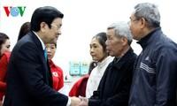 ประธานประเทศเจืองเติ๊นซางไปอวยพรที่จังหวัดฮึงเอียนและห่านาม