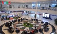 Không khí tác nghiệp của phóng viên tại Trung tâm báo chí quốc tế APEC